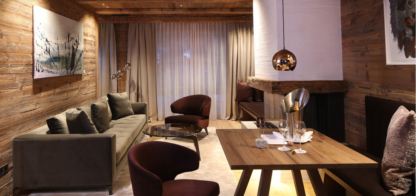 Wohnraum Suite im Severin*s – The Alpine Retreat in Lech am Arlberg